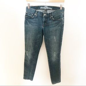 """Fossil Distressed """"Slouchy Skinny"""" Jeans"""